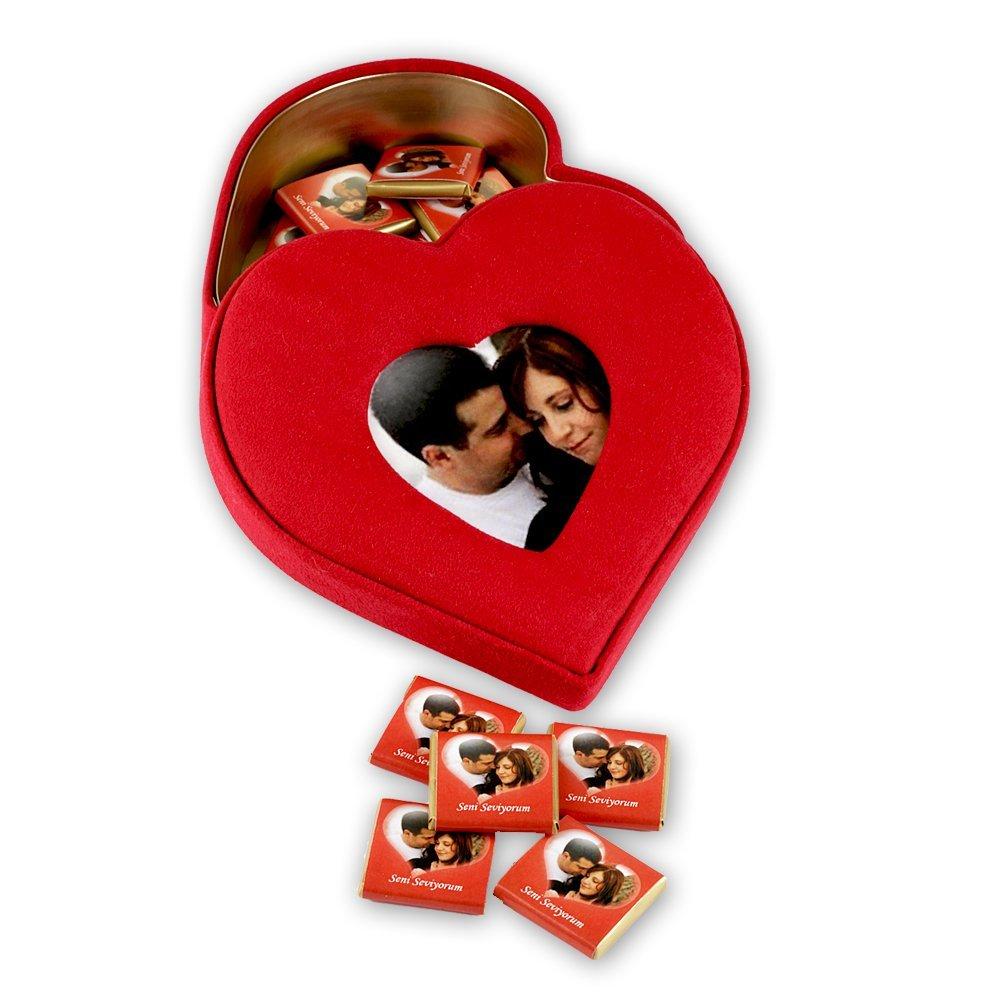 Kalp Kutuda Çikolata-50 Adet