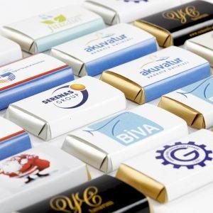Kurumlara özel logolu cikolata