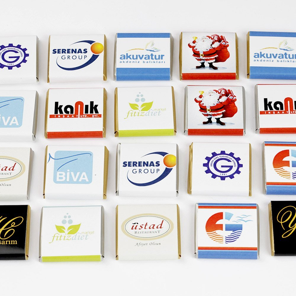 Logolu Çikolata-100 Adet