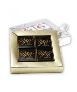 Logolu Çikolata 4'lü kutuda 250 adet