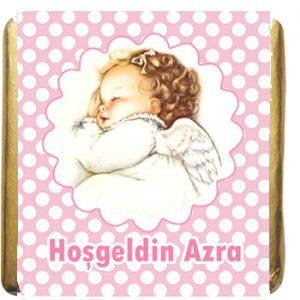 Resimli Kız Bebek Çikolatasi