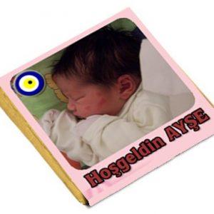 Kisiyeozel Resimli Bebek Çikolataları