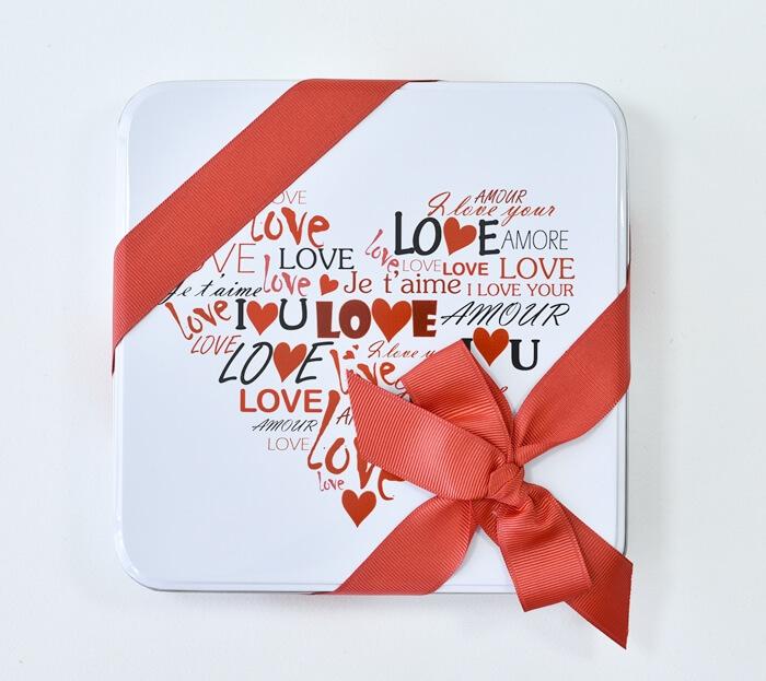 Seni Seviyorum Kutuda Resimli Çikolata